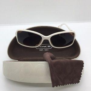 Coach ivory/white sunglasses